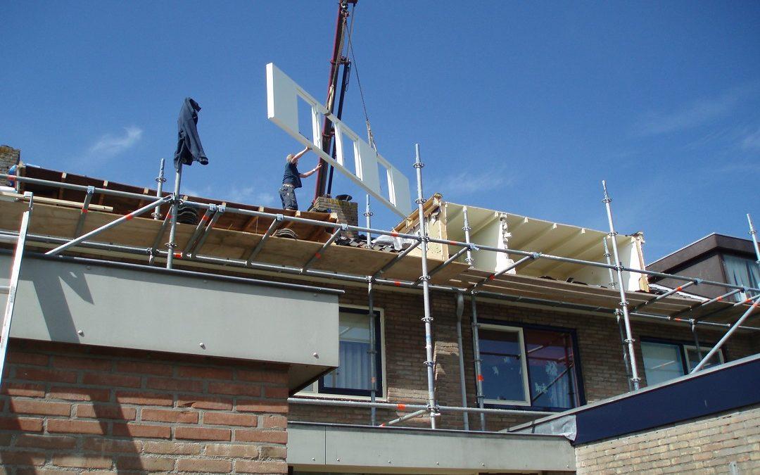 Voortgang werkzaamheden dubbele dakopbouw Mijdrecht