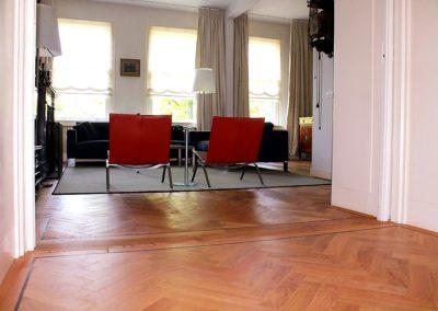 Vervangen parketvloer appartement Amsterdam